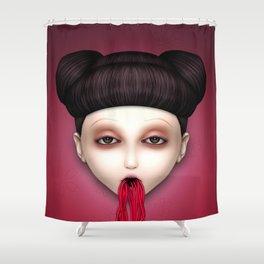 Misfit - Sakura Shower Curtain