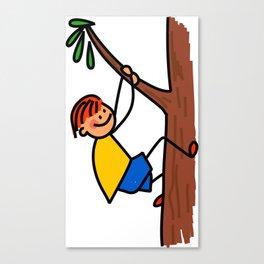 Climbing Tree Boy Canvas Print