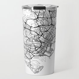 Singapore Map White Travel Mug