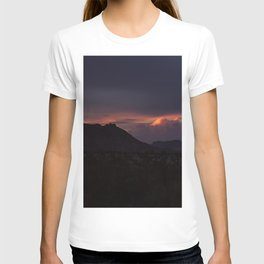 Vibrant Sunset over the Mountains in Terlingua, Big Bend - Landscape Photography T-shirt