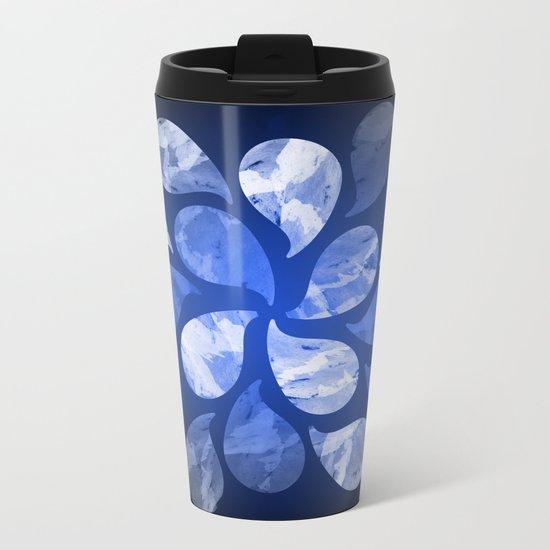Abstract Water Drops XX Metal Travel Mug