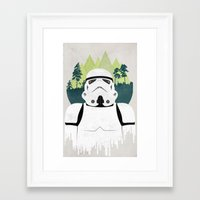 stormtrooper Framed Art Prints featuring Stormtrooper by Robert Scheribel