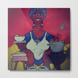 The cooking lady Metal Print