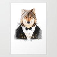Loup Gris Art Print