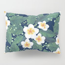 Plumeria Pattern Pillow Sham