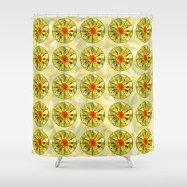 The Power of Petals 2...The Clock! Shower Curtain