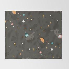 Space unicorn pattern Throw Blanket