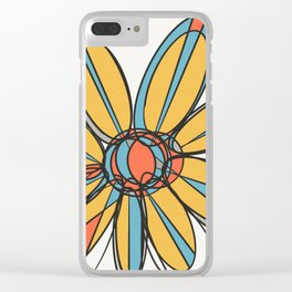 multicolor flower Clear iPhone Case