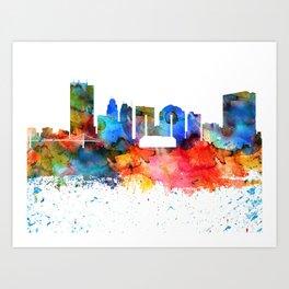 Toledo Colorful Drops Skyline Art Print