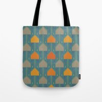 camping Tote Bags featuring Camping by Mimi