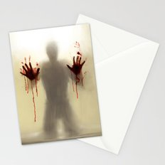 Beware to the shower....you are not alone! Stationery Cards