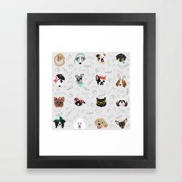 Polka Pets Framed Art Print