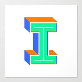 Letter I Canvas Print