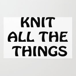 Knit All the Things in Black Rug