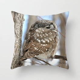 Self snuggle Throw Pillow