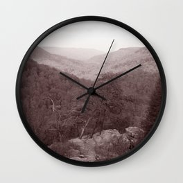 Cloudland Canyon State Park, Georgia in Sepia Tone Wall Clock