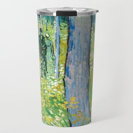 Undergrowth with Two Figures by Vincent van Gogh Travel Mug
