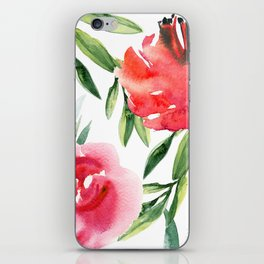 Bright Flowers with Green Leaves iPhone Skin