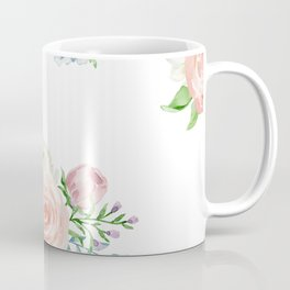 Watercolor floral background pastel colors Coffee Mug