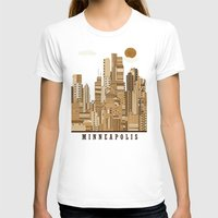 minneapolis T-shirts featuring Minneapolis skyline by bri.buckley