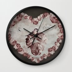 Heart of Roses Wall Clock