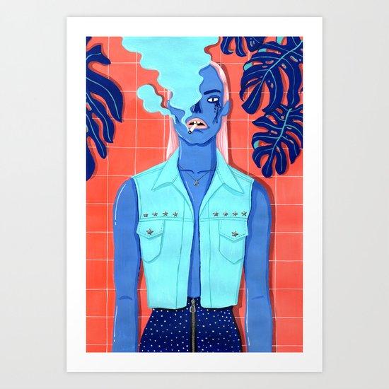 MEET ME AT THE POOL 3 Art Print