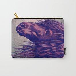 Purple horse portrait Carry-All Pouch