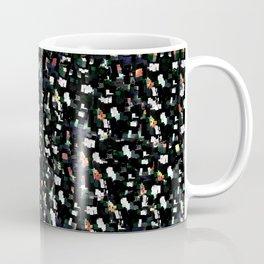 Digital Glitter: Black with Iridescent Sparkles Coffee Mug