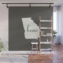 Georgia is Home - White on Charcoal Wall Mural