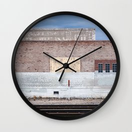 The Railroad Yard - Suicide Alley Wall Clock