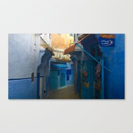 The Blue Streets in Chefchaouen Canvas Print
