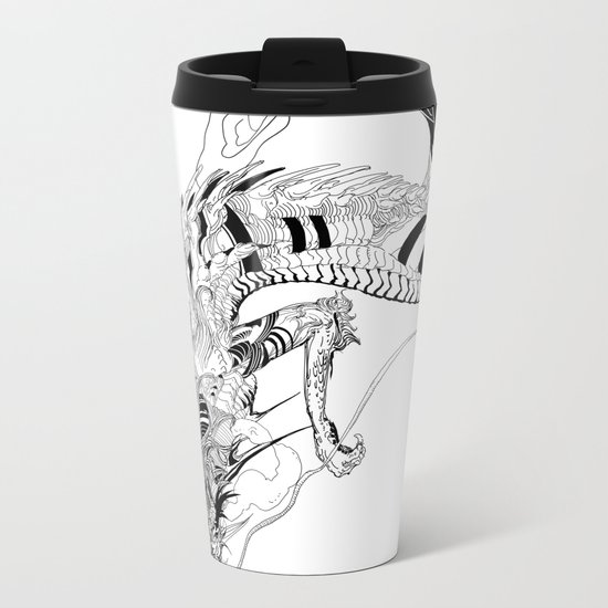 Falling dragon Metal Travel Mug