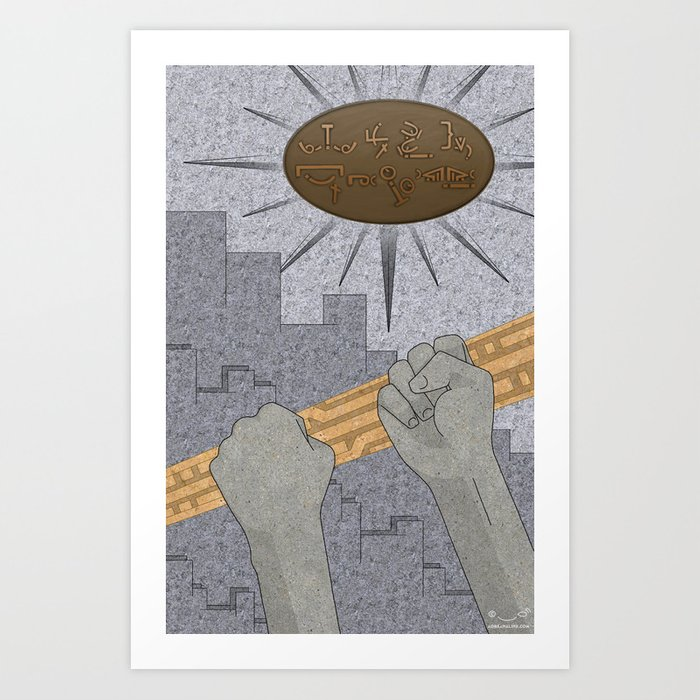 All Barriers Crumble and Fall - (Artifact Series) Art Print