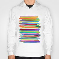 blondie Hoodies featuring Colorful Stripes 1 by Mareike Böhmer