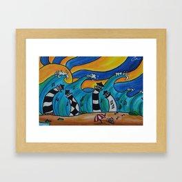 Lighthouse Jamboree by Hangin Fin TM Framed Art Print