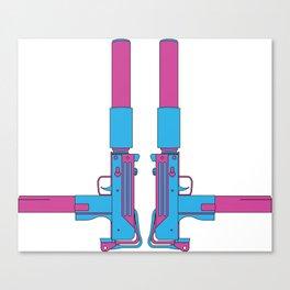 Mondo Mando - Mac-10 Print Canvas Print
