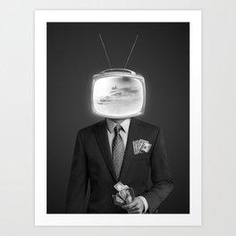 Mr Television Art Print