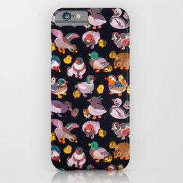 Duck and Duckling - dark iPhone Case