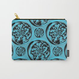 Turquoise pattern Carry-All Pouch