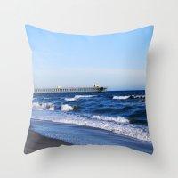 boardwalk empire Throw Pillows featuring Boardwalk by Raffaella315