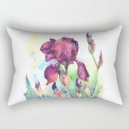 Watercolor iris flowers Rectangular Pillow