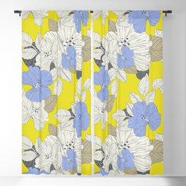 Vintage high season hibiscus flowers design for home decoration Blackout Curtain