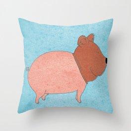 animal fake Throw Pillow