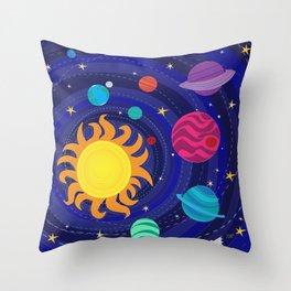 Solar Orbit  Throw Pillow