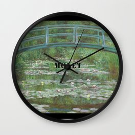 Claude Monet, Japanese Footbridge over the Water Lily Pond Wall Clock
