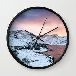 Llyn Ogwen Sunset Wall Clock