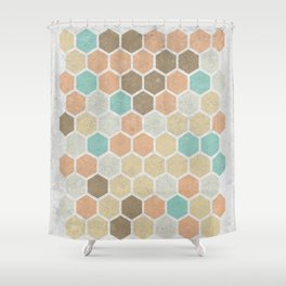 Geometric Maze Shower Curtain