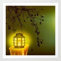 lantern Art Prints featuring LANTERN by SPACEZING