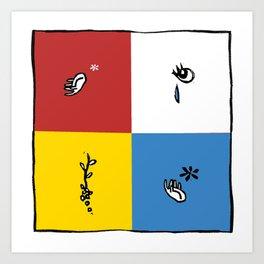 Four Gestures Art Print