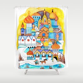 Russian Village Shower Curtain